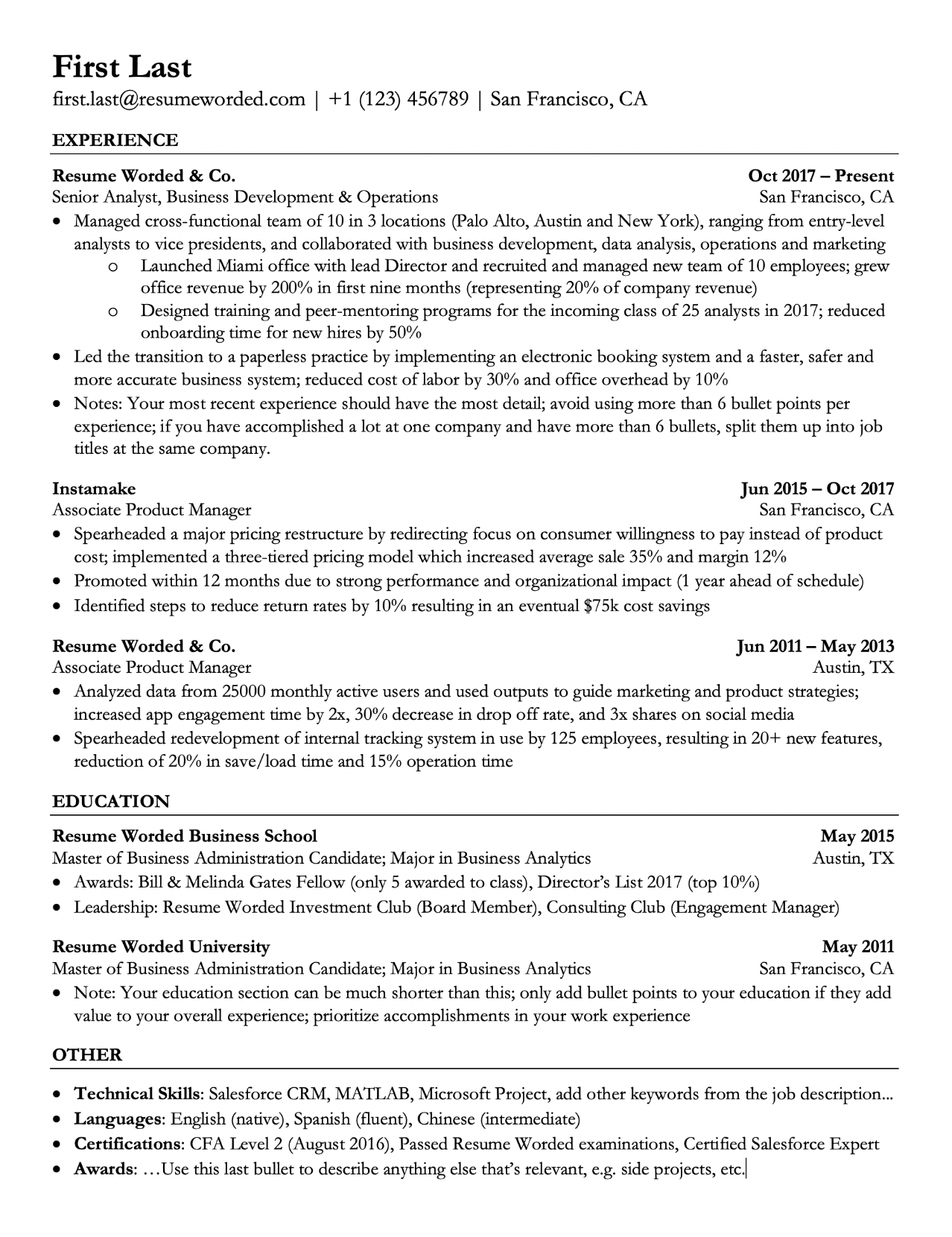Unique Resume Template with