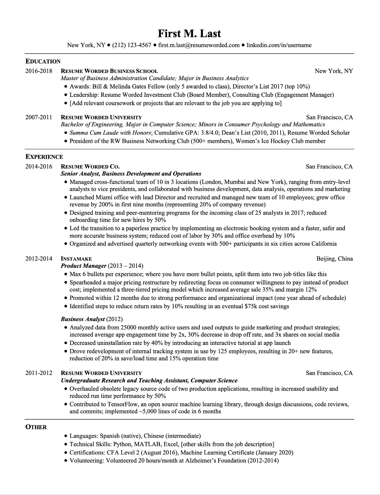 Downloadable ATS Ready Resume Templates for College Students